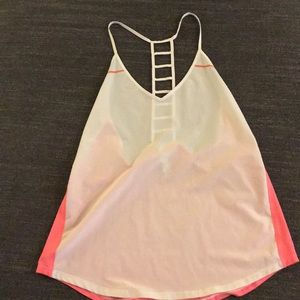 Lulu Lemon White/Pink Tank Too